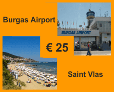 Taxi from Burgas airport to Saint Vlas