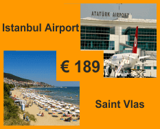 Taxi from Istanbul airport to Saint Vlas