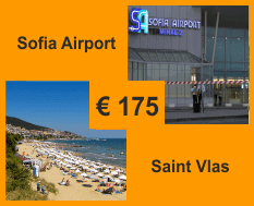 Taxi from Sofia airport to Saint Vlas