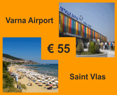 Taxi from Varna airport to Saint Vlas